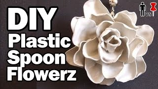 DIY Plastic Spoon Flowers - Man Vs. Pin #38