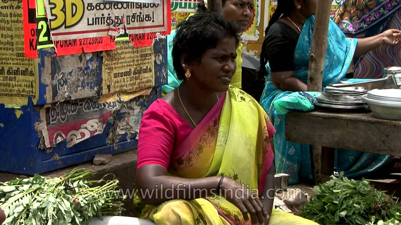 Women sell fresh veges on the streets of Vellore