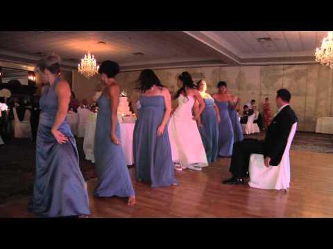 Stuntwoman Bride surprises groom with wedding dance