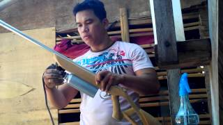 marble rifle home made. powered by denatured alcohol,with demo.