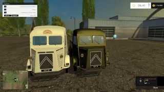 Мод автомобиль Citroen H Flatbed and Livestock v 2.7 Farming Simulator 15