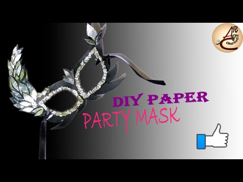 How to make party mask with aluminum foil & paper