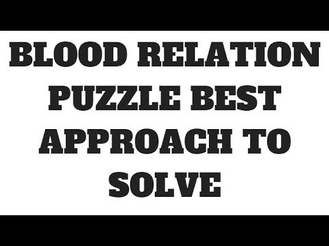 BLOOD RELATION PUZZLE EASY APPROACH TO SOLVE