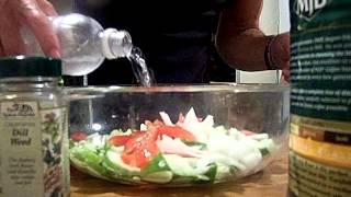Cucumber, Dill, Onion, Tomato Olive Oil Vinegarette Salad 1/2 Chef John The Ghetto Gourmet Show
