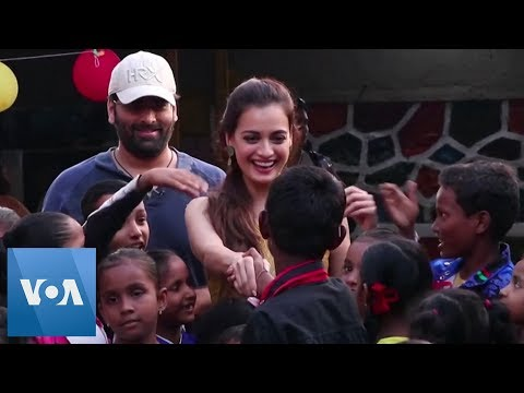 Bollywood Actress Dia Mirza Meets With Underprivileged Children In Mumbai