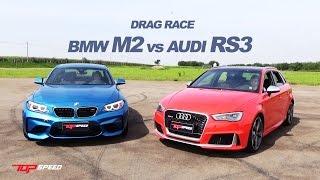 Drag Race Audi RS3 vs BMW M2