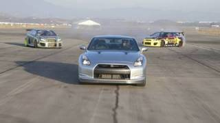 Nissan GT-R vs. Scion tC Drift Cars