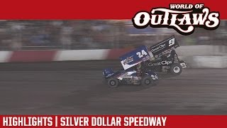 World of Outlaws Craftsman Sprint Cars Silver Dollar Speedway Highlights
