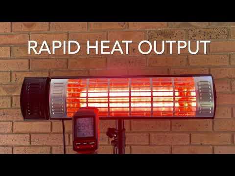 Muskoka Lifestyle Products MUS1514 Solar Comfort 1500 Watt Infrared Patio Heater