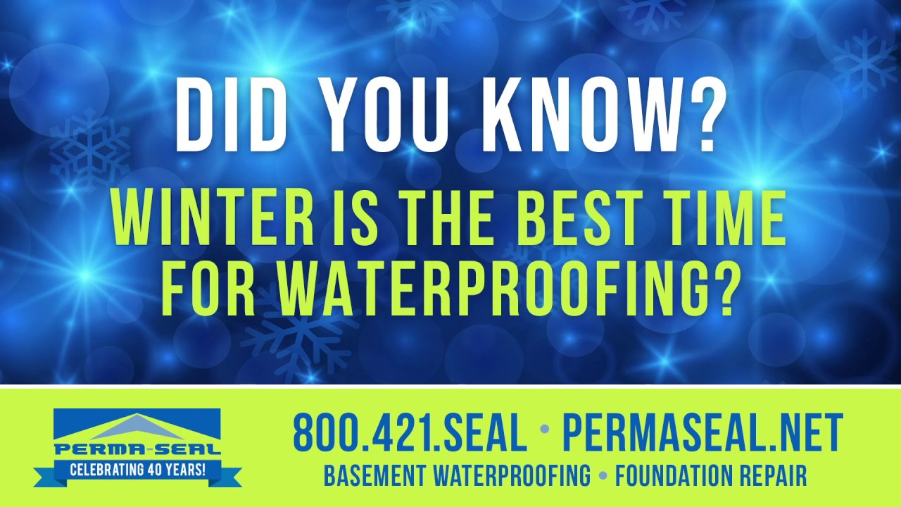 Winter Is The Best Time For Waterproofing