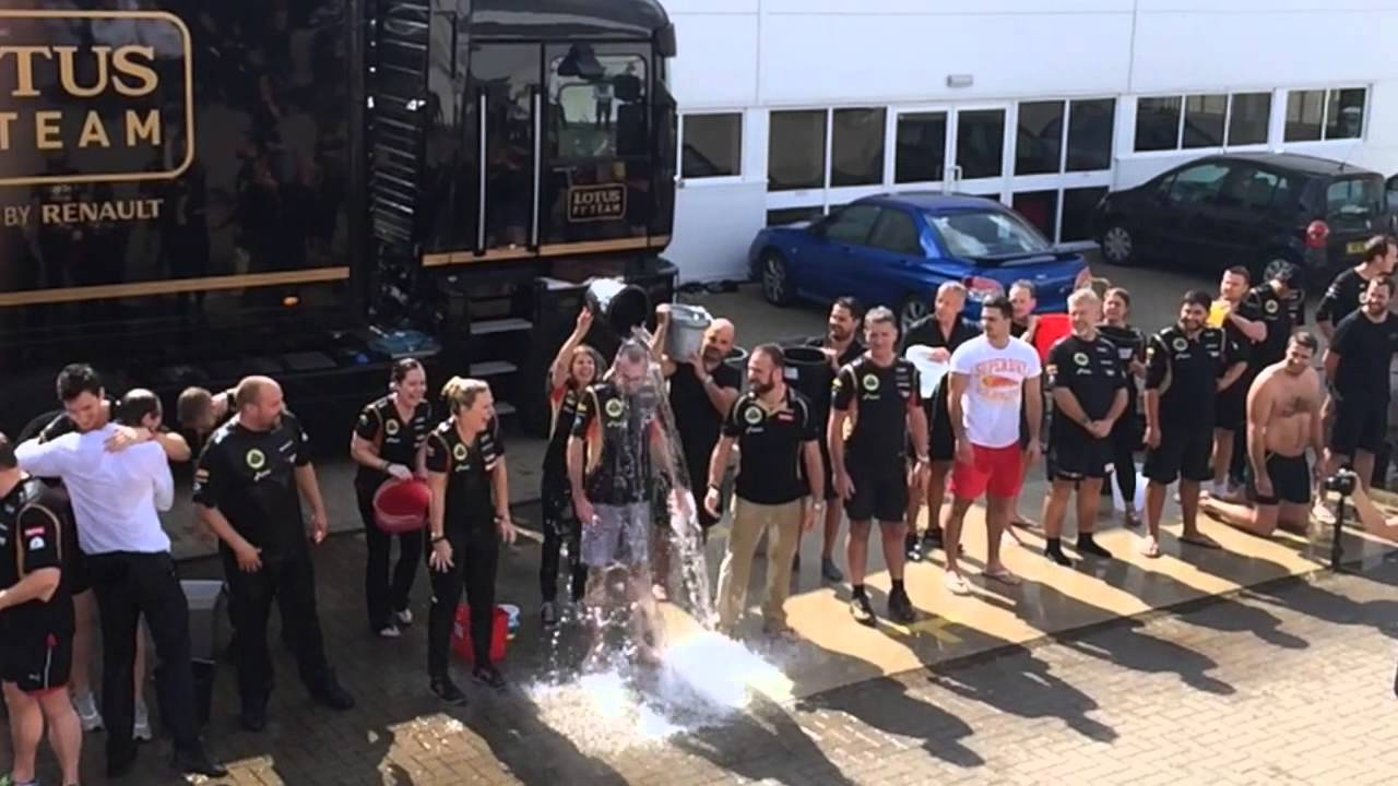 Lotus F1 Team Take On The ALS Ice Bucket Challenge