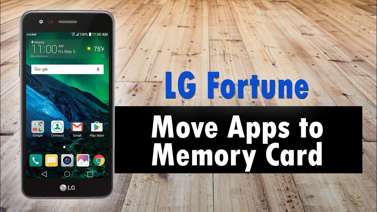 c6ae43a96 LG Fortune How to Move Apps to Memory Card - YouTube
