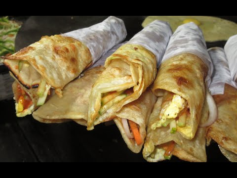 Egg Roll - Bengali Street Food India - Indian Street Food Kolkata || Food at Street