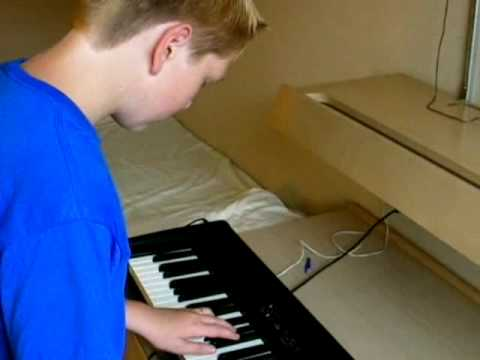 "Relax with Jax - Young Piano Player Jax Seib plays ""Dark Blue"""