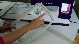 PFAFF creative 4.5 75 How to Hoop Fabric