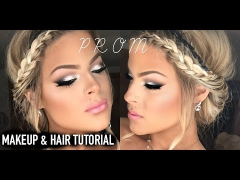 Prom Makeup and Hair tutorial!  Easy and...