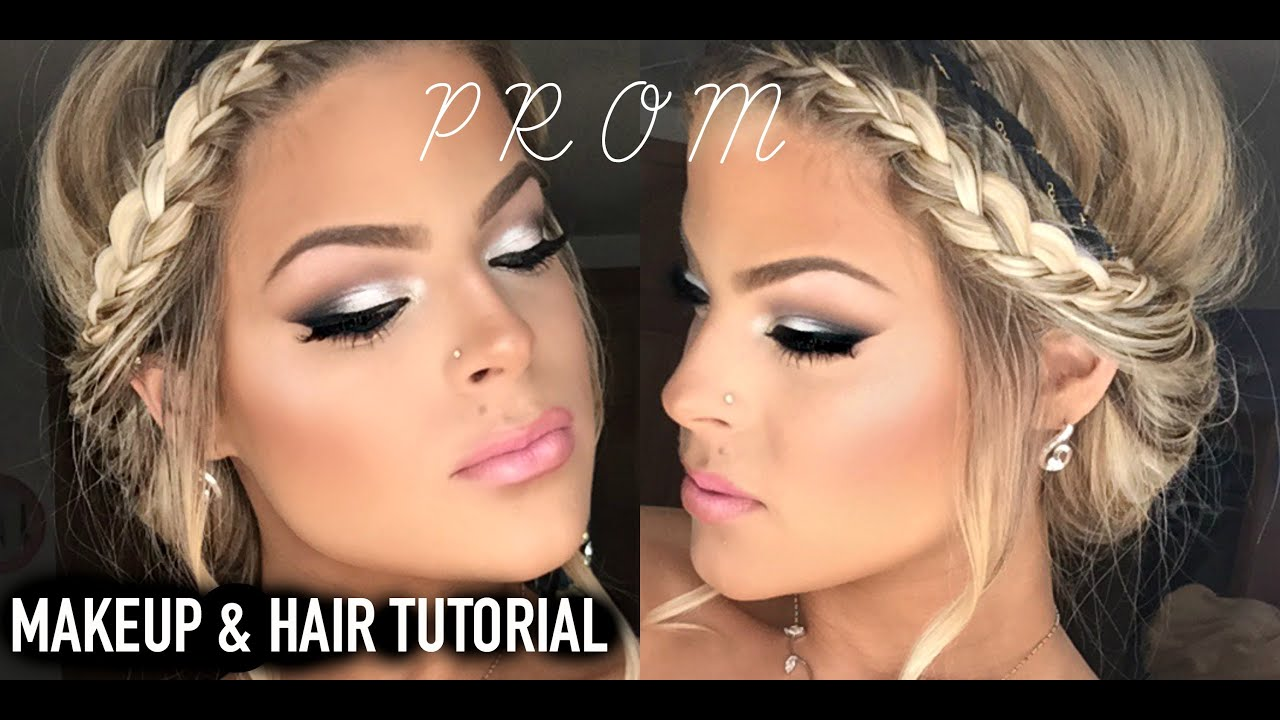 prom makeup and hair tutorial easy and pretty valerie