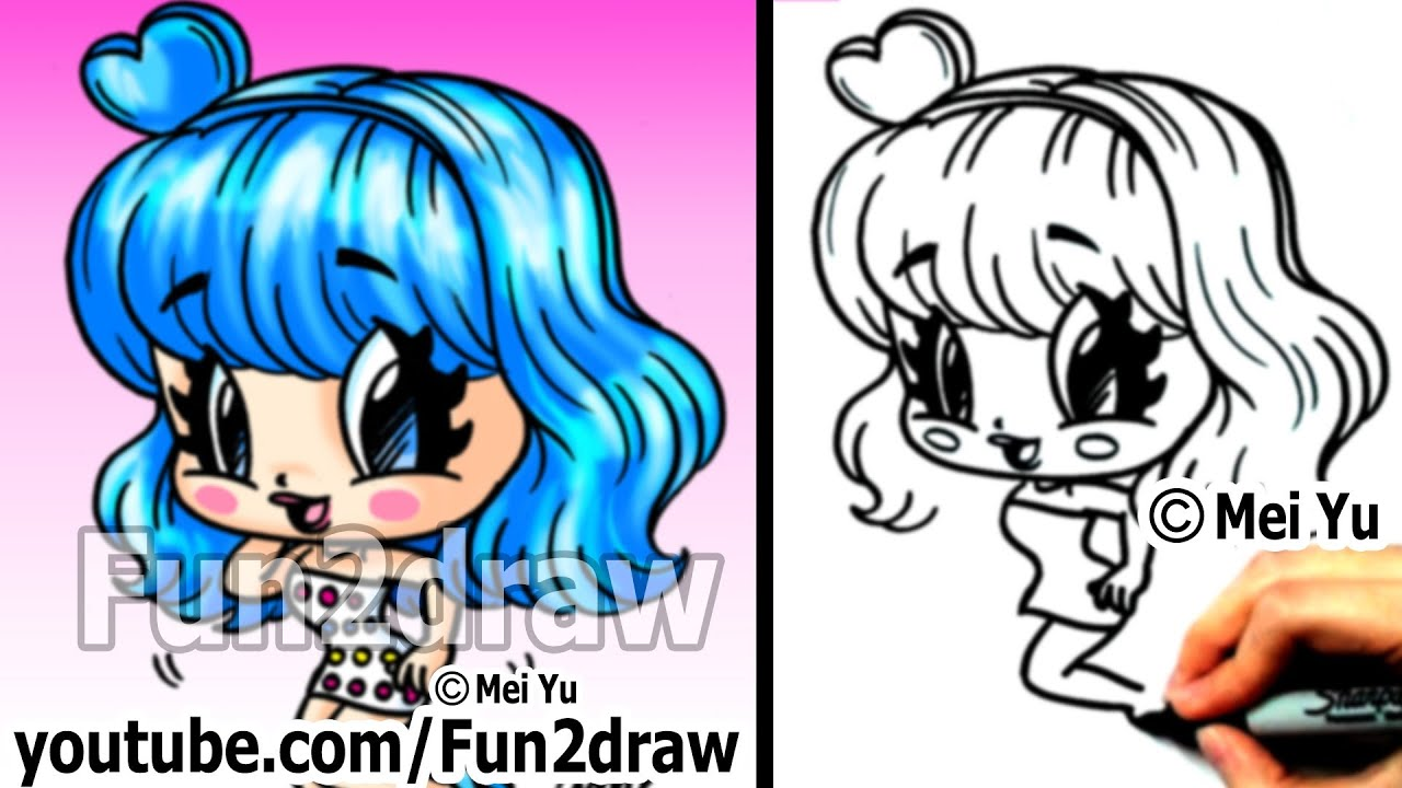 Katy Perry Chibi Drawing Tutorial Super Cute Fun Popular