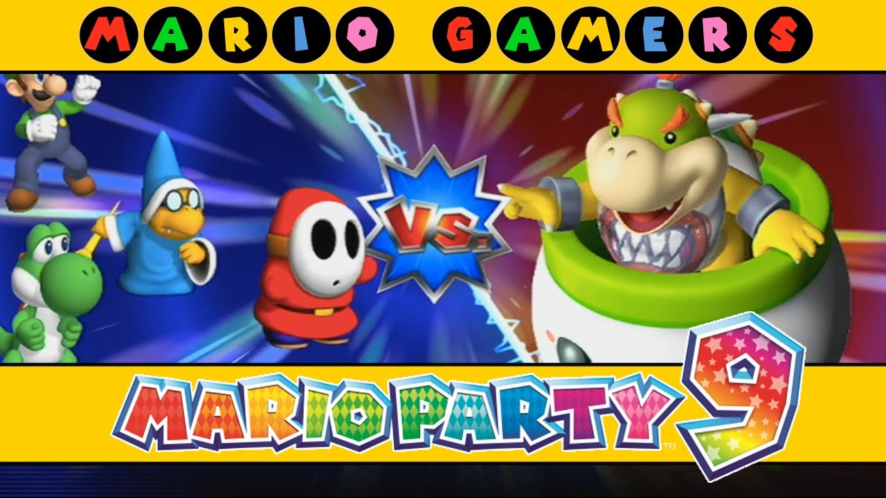 Mario Party 9 Bowser Station Luigi Shy Guy Magikoopa Yoshi
