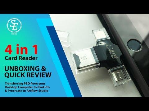 IPad OTG 4 In 1 USB Card Reader OTG USB Adapter - IXpand Alternative ( Artist Perspective )