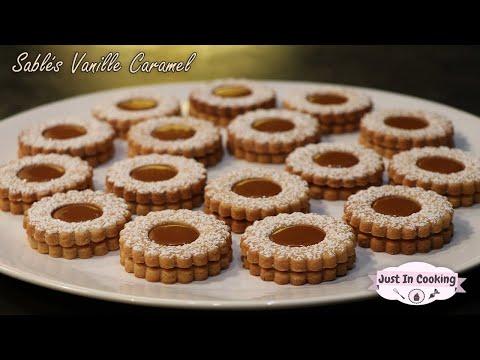 recette-des-sablés-à-la-vanille-et-au-caramel-au-beurre-salé