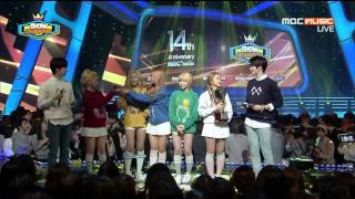 150401 Red Velvet 4th Win Ice Cream Cake Number 1 @show Champion