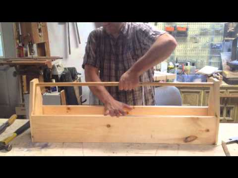 Make an old style wood carpenters tool box