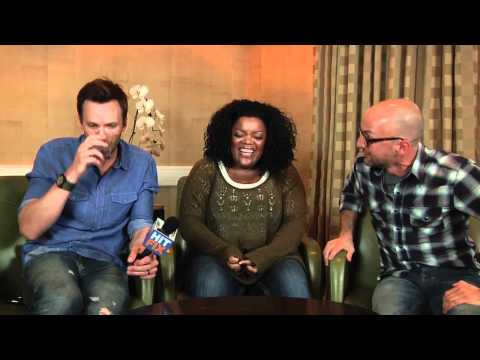 Community - Joel McHale, Yvette Nicole Brown and Jim Rash