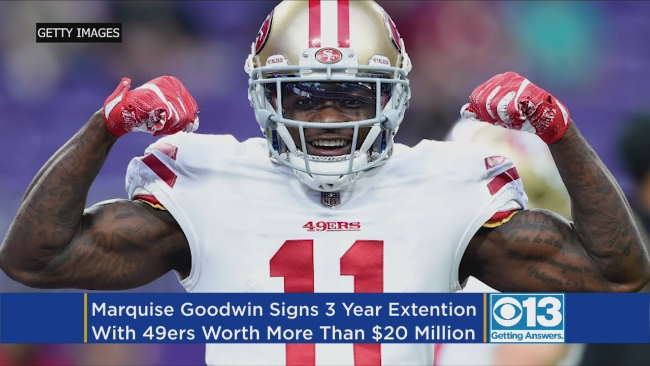 9eaa3e68a70 49ers Sign WR Marquise Goodwin To 3-year Extension - YouTube