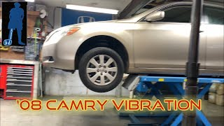 Camry 3.5l front eฑd vibration when accelerating(axles)