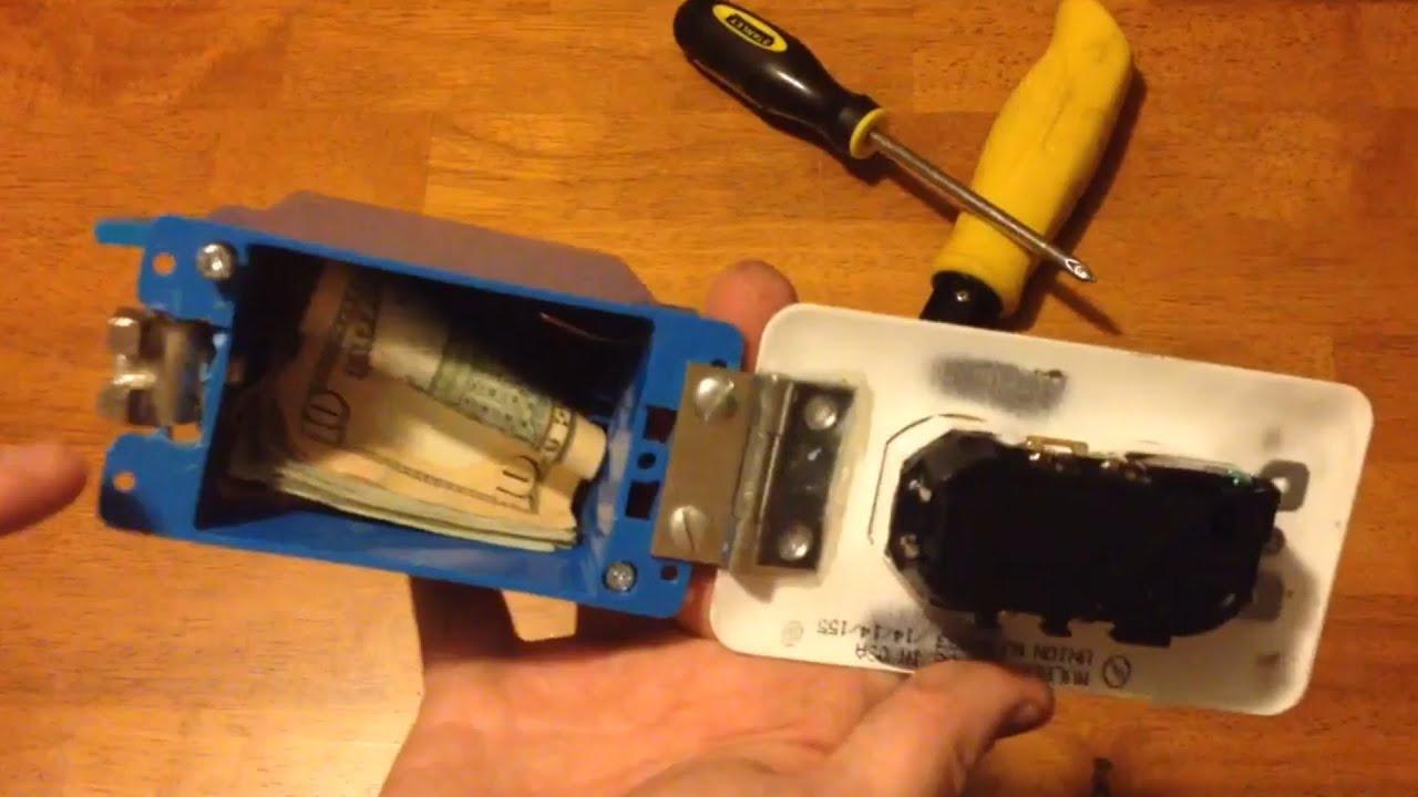 DIY Project  SECRET HIDDEN WALL SAFE Prepping for