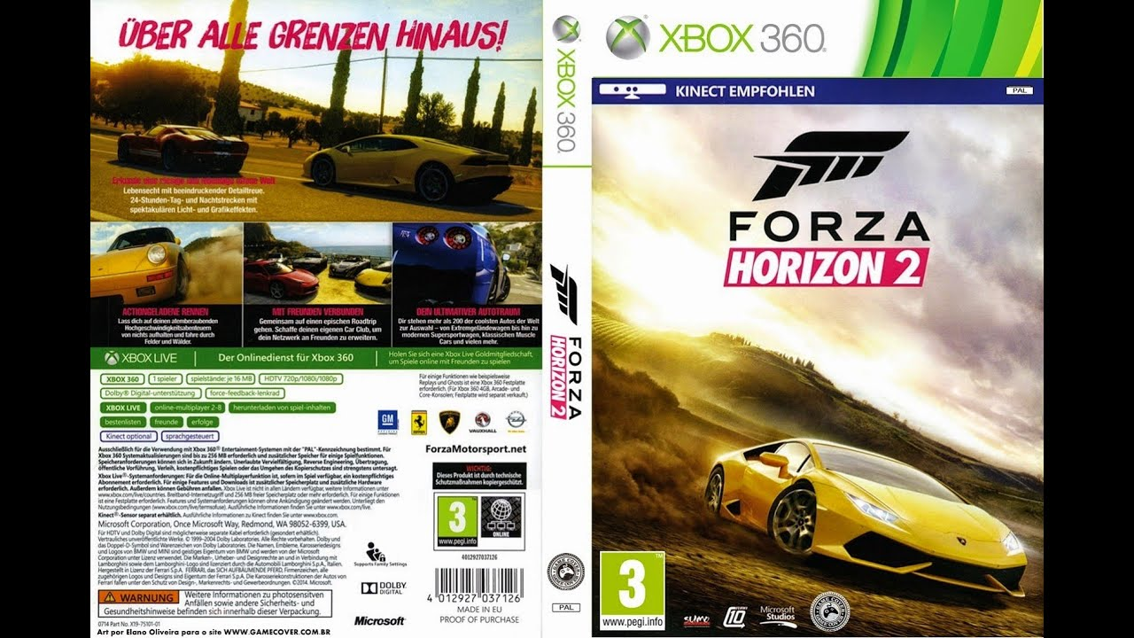 unboxing forza horizon 2 pt br xbox 360 youtube. Black Bedroom Furniture Sets. Home Design Ideas