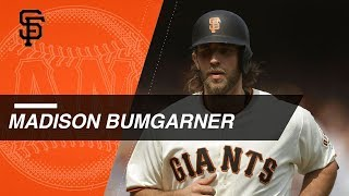 Giants pitcher madison bumgarner has hit 17 home runs in his major league career, here are all of them togethercheck out http://mlb.com/video for more!about ...