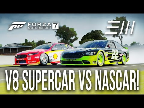 "Ford ""NASCAR"" vs Ford ""V8 SUPERCAR"" CHALLENGE!!! | Forza 7"