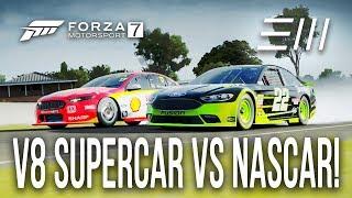 "Ford ""NASCAR"" vs Ford ""V8 SUPERCAR"" CHALLENGE!!!   Forza 7"