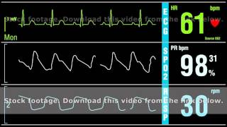 Patient monitor displays medical exam vital signs