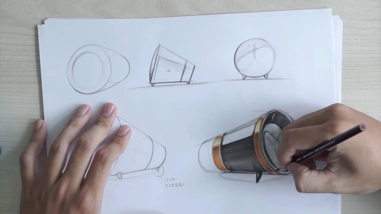 industrial product design sketching youtube. Black Bedroom Furniture Sets. Home Design Ideas