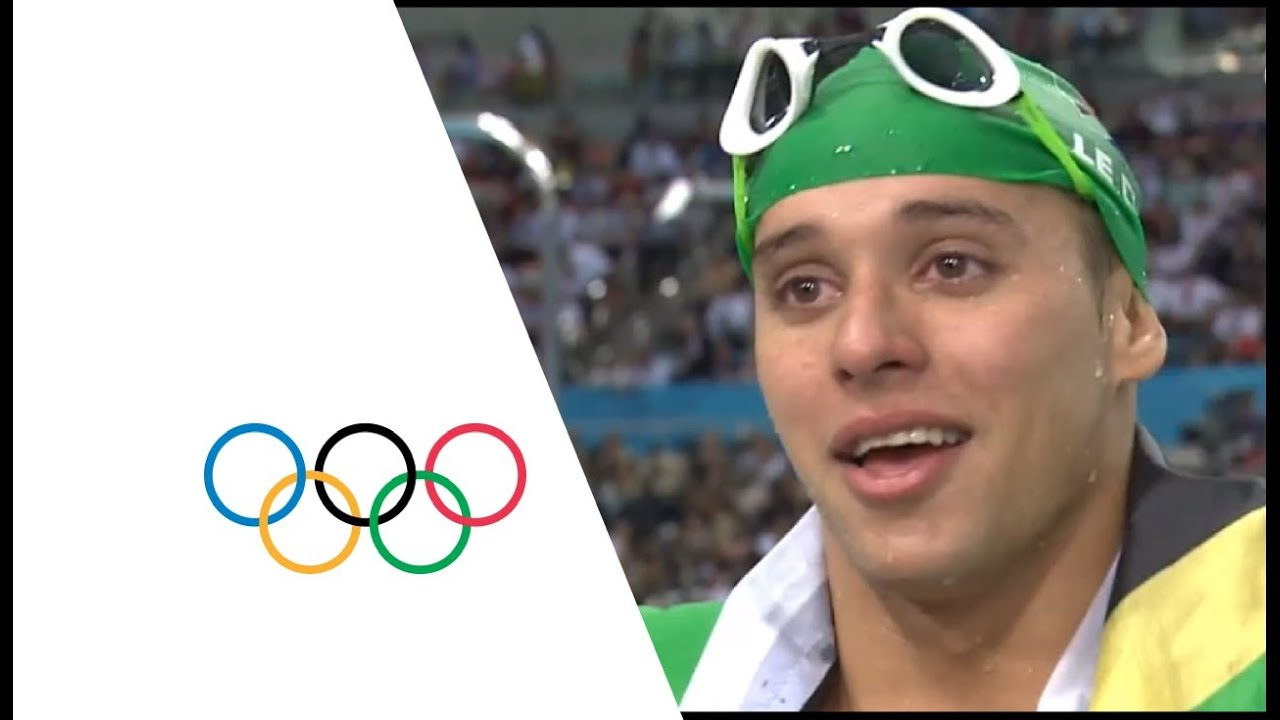Chad Le Clos Wins 200m Butterfly Gold Phelps Wins Silver London 2012 Olympics Youtube