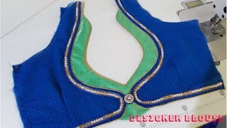 Very Beautiful Neck Design Stitching With Lace and piping