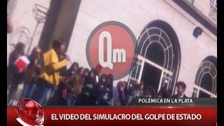 qm noticias exclusivo el video del simulacro del golpe de estado en el colegio de la plata