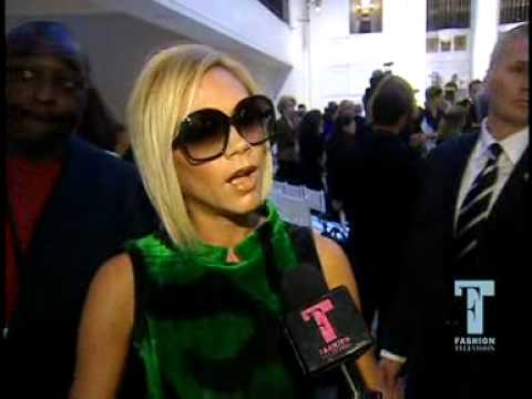 Victoria Beckham E Fashion interview at Oscar De La Renta show