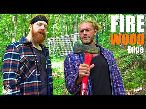 Dan Joyce - Chopping Wood With WWE Superstars Edge and Sheamus