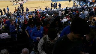Fans Exit Chesapeake Energy Arena After Thunder-jazz Game Is Postponed