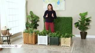 Square Solid Wood Lexington Planter Box - Product Review Video