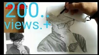 How to draw a portrait pencil drawing -Amruth Badi