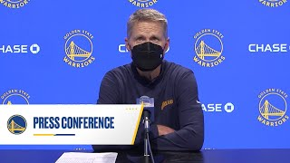 Warriors Talk: Steve Kerr Following Win vs. Thunder | May 6, 2021