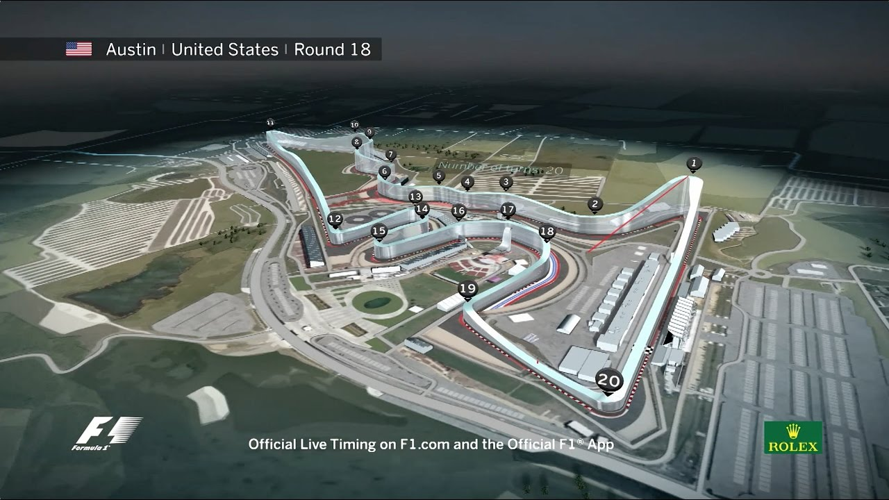 United States Grand Prix >> F1 Circuit Guide United States Grand Prix 2016 Youtube