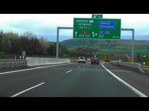 D8, A17, Praha - Dresden, Lovosice - Sachsen, sesuv dálnice