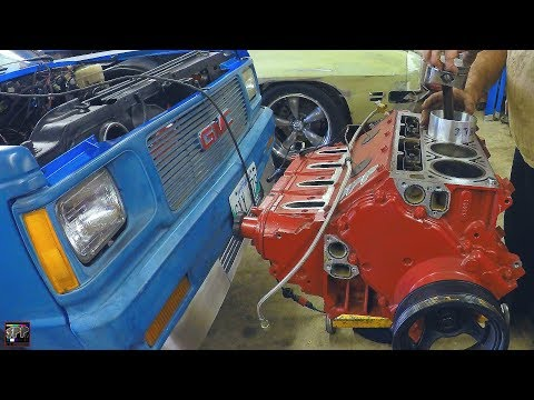 Replacing a Piston in a V8 5.3 LS Engine | Blue Ghost Engine Problem Solved (Turbo L33 Budget Build)
