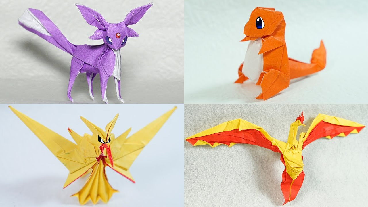The Best Origami Pokemon Pokegami Henry Pham Youtube